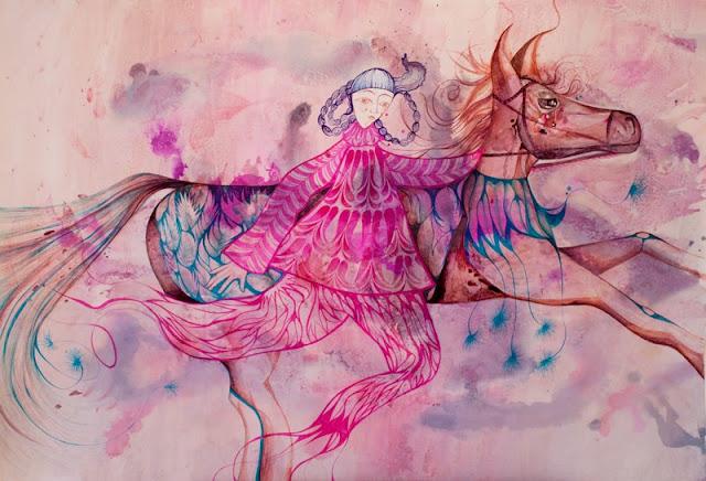 Наивные рисунки акварелью. Estela Cuadro 19