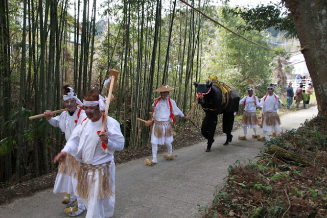Otaue-matsuri (Rice Planting Ritual) at Morotayama Shrine, Kunisaki City, Oita Pref.