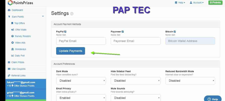 شرح كيفية الربح من موقع pointsprizes للمبتدئين - باب تك