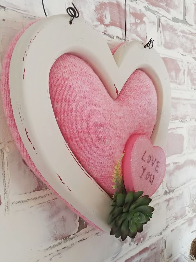 Upcycled Wooden Heart Valentine