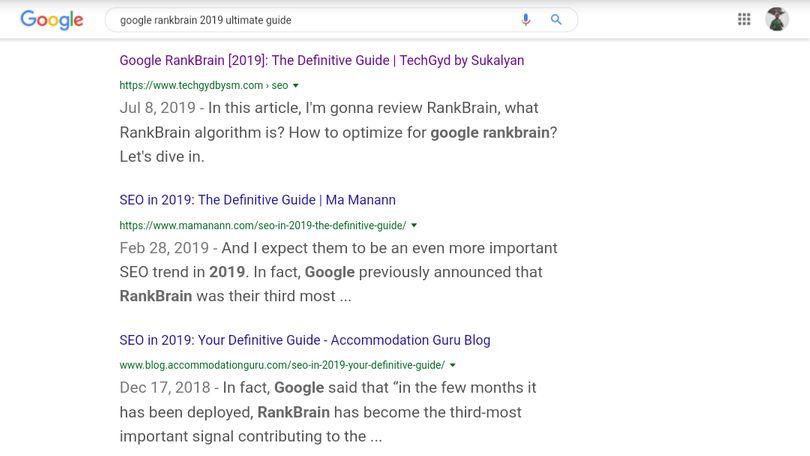 google rankbrain 2019 ultimate guide