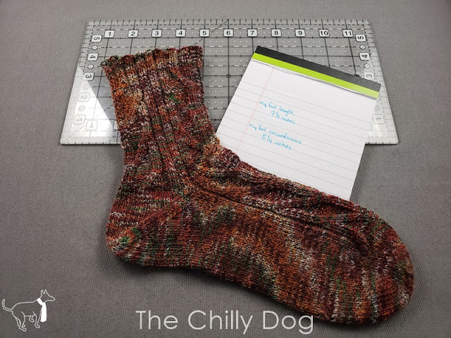 How to measure your foot for hand knit socks