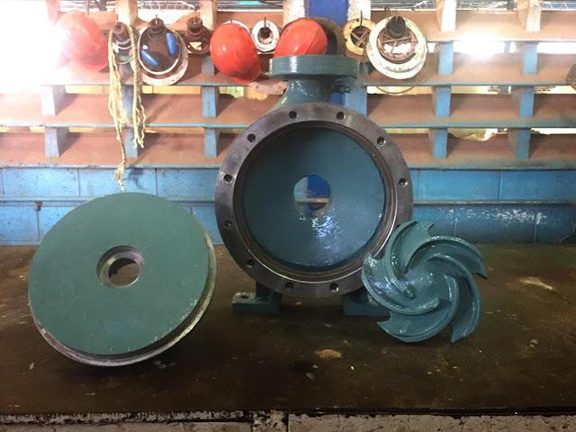 Reparación de carcasa e impulsor de bomba centrifuga