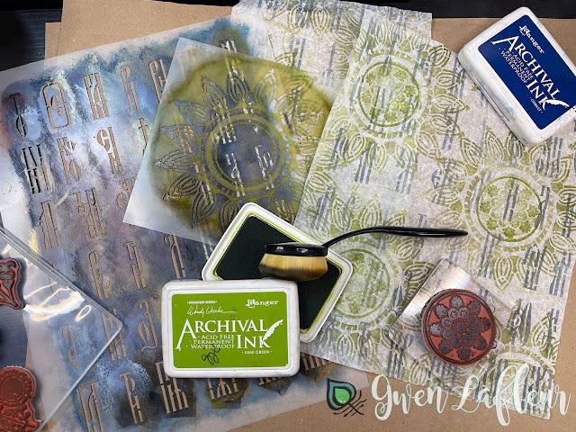 Textural Art Journaling with Stencils - Tutorial Step 1 - Gwen Lafleur
