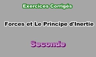 Exercices Corrigés de Forces et Le Principe d'Inertie Seconde PDF
