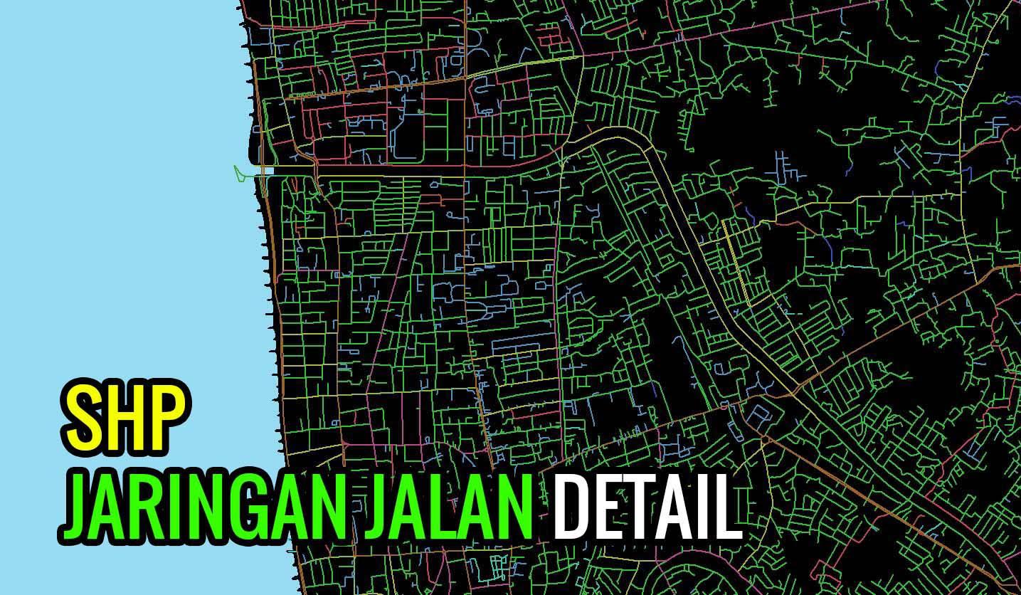 Download Shapefile Jaringan Jalan Detail Seluruh Indonesia