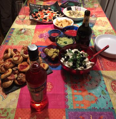 Il buffet aperitivo di casa Lanza