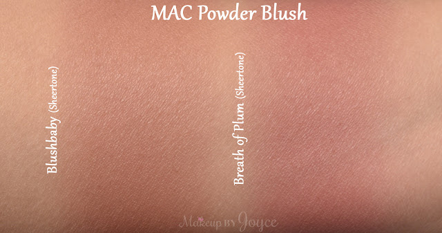 Mac Blushbaby Breath of Plum Blush Swatch