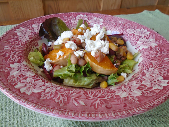 Warm Roast Butternut Squash, Mixed Beans & Goats' Cheese Salad