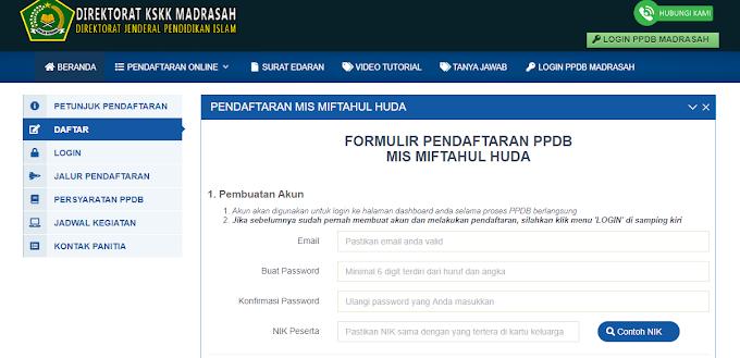 Cara Mendaftar PPDB Madrasah  Di Kementerian Agama Republik Indonesia