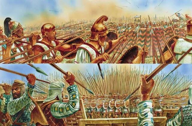 Vergleich: Makedonischer Phalangit gegen Persischer Krieger