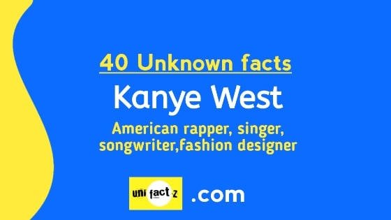 Kanye West 40 Little Known Facts