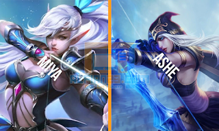 Miya ( Mobile Legends ) dari Ashe ( League Of Legends )
