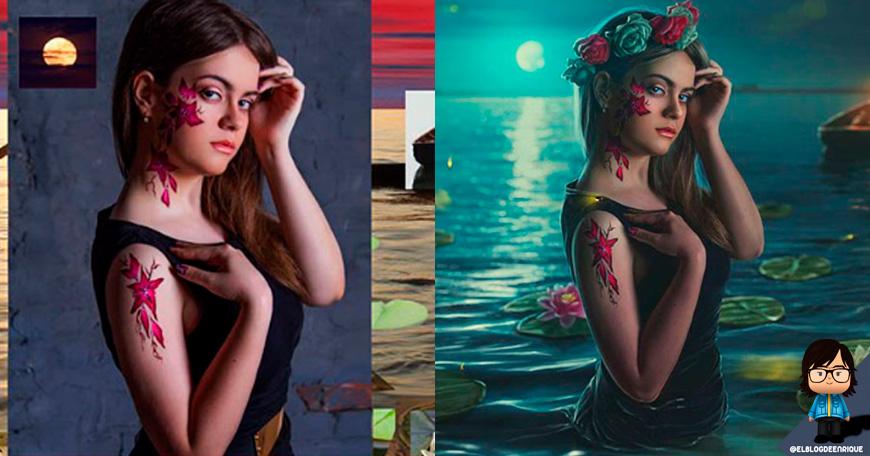 Artista ruso el dios en photoshop