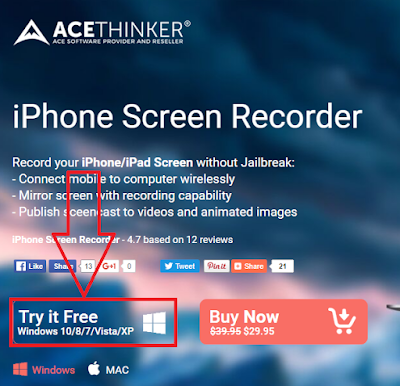 iphone screen Recorder; AceThunker