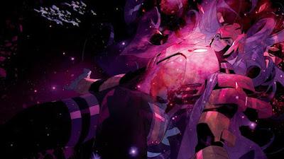 Pleine page, un dieux gigantesque flotte dans les airs...