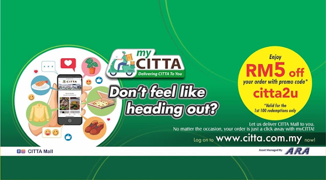 myCITTA, Citta Mall, Food Delivery, Online Order, Online Shopping Mall, Para Thai, Wrappe, Ying Ker Lou, Food