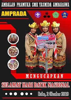 Ucapan Selamat Hari Batik Nasional Tahun 2019 Pramuka SMK Yasmida Ambarawa
