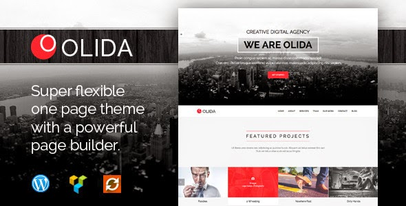 Free Parallax One Page WP Theme