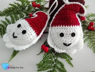 Amigurumi Christmas : Free amigurumi patterns christmas ornament santa pattern