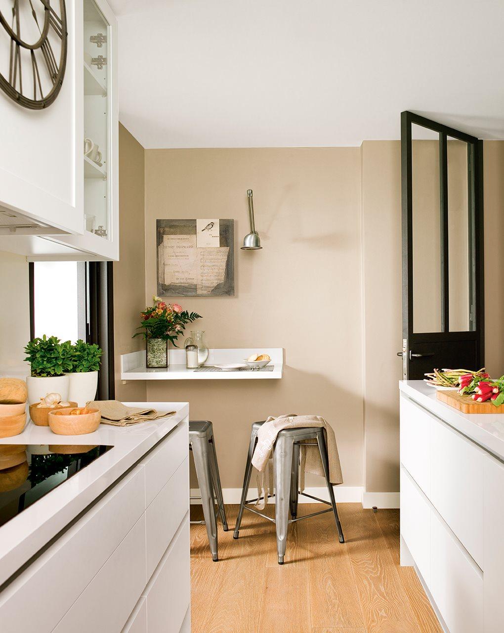 Una casa pequeña y en tonos beiges