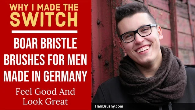 Boar bristle brushes for men made in Germany