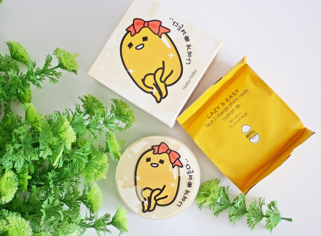Holika Holika, Lazy & Easy Face 2 Change Photo Ready Cushion BB (Gudetama Edition) #23 Natural Beige