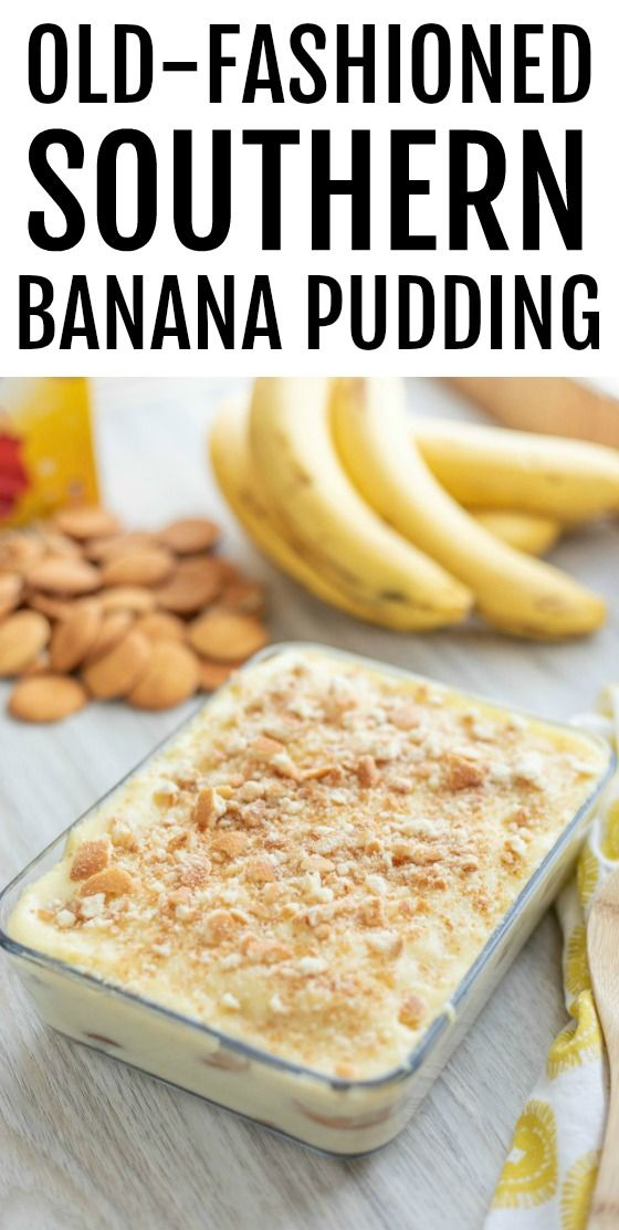 SIMPLE SOUTHERN HOMEMADE BANANA PUDDING RECIPE
