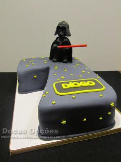 star wars darth vader seven cake