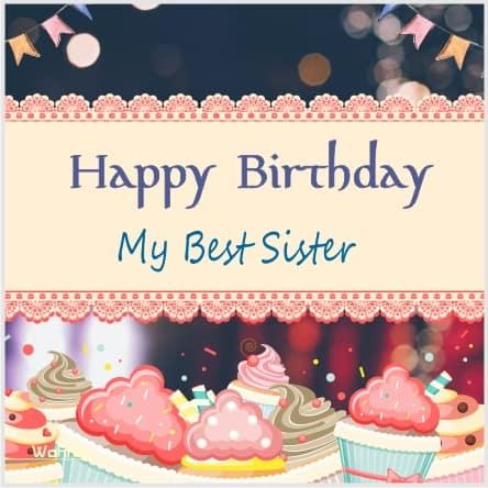 Birthday Status-Shayari For Sister