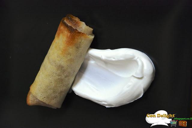 Diet apple strudel with cream שטרודל תפוחים וקצפת דיאטטי