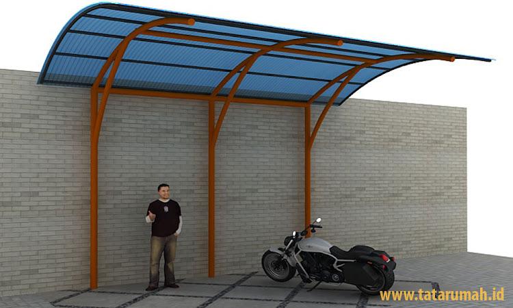 instalasi shelter parkir motor