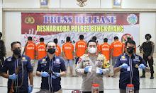 Ungkap Kasus Narkoba, Polres Bengkayang Gelar Press Release