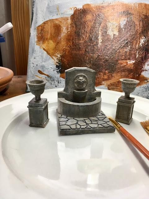 3D Printed Garden Urns and Fountain via foobella.blogspot.com