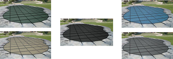 The color of the pool cover