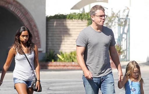 Matt Damon and Daughter Alexia