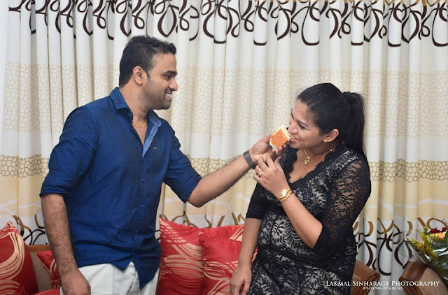 famous singer Sanka Dineth Celebrates his birthday with son