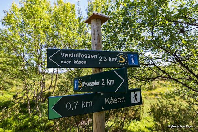 Señalización Ruta Brudesloret, Rondane - Noruega, por El Guisante Verde Project