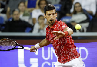 Novak Djokovic is currently the best tennis player of the world