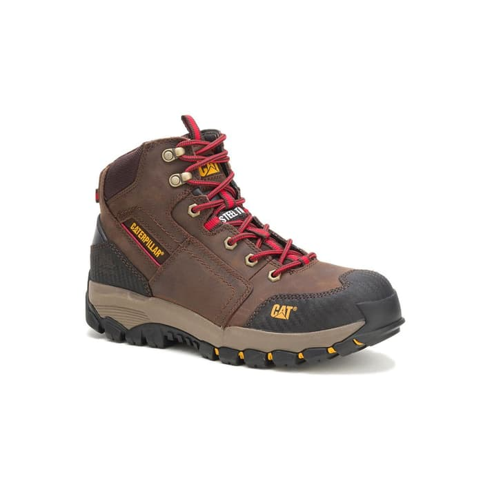 Sepatu Safety Caterpillar Navigator Mid ST Waterproof Clay Original