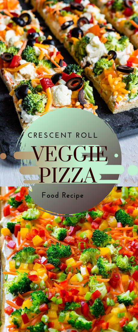 Crescent Roll Veggie Pizza #food #lunchrecipe #vegan #vegetarianrecipe #easyrecipe