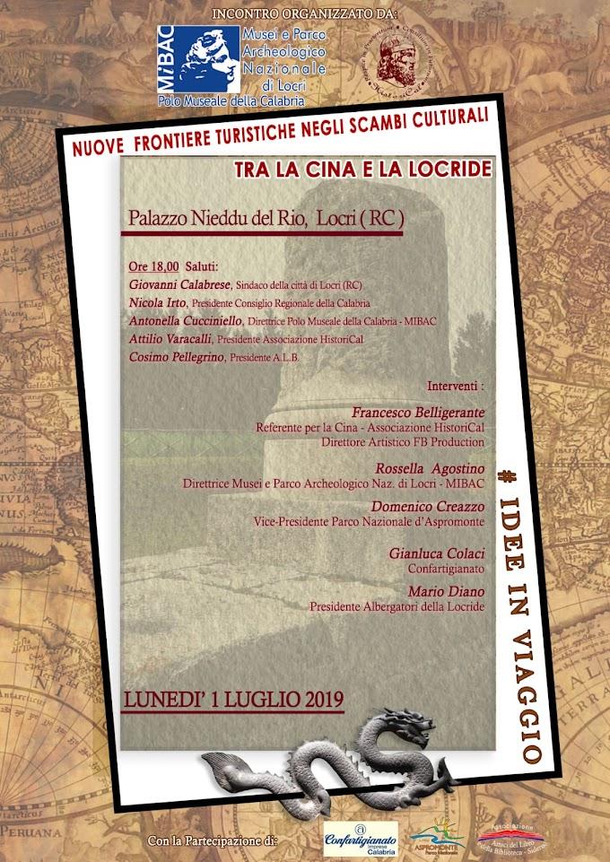 A Locri (RC) incontro sul tema 'Tra la Cina e la Locride'