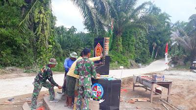 Tugu TMMD 111 Kodim 0204/DS, Wujud Kemanunggalan TNI-Rakyat Sinergi Membangun Negeri