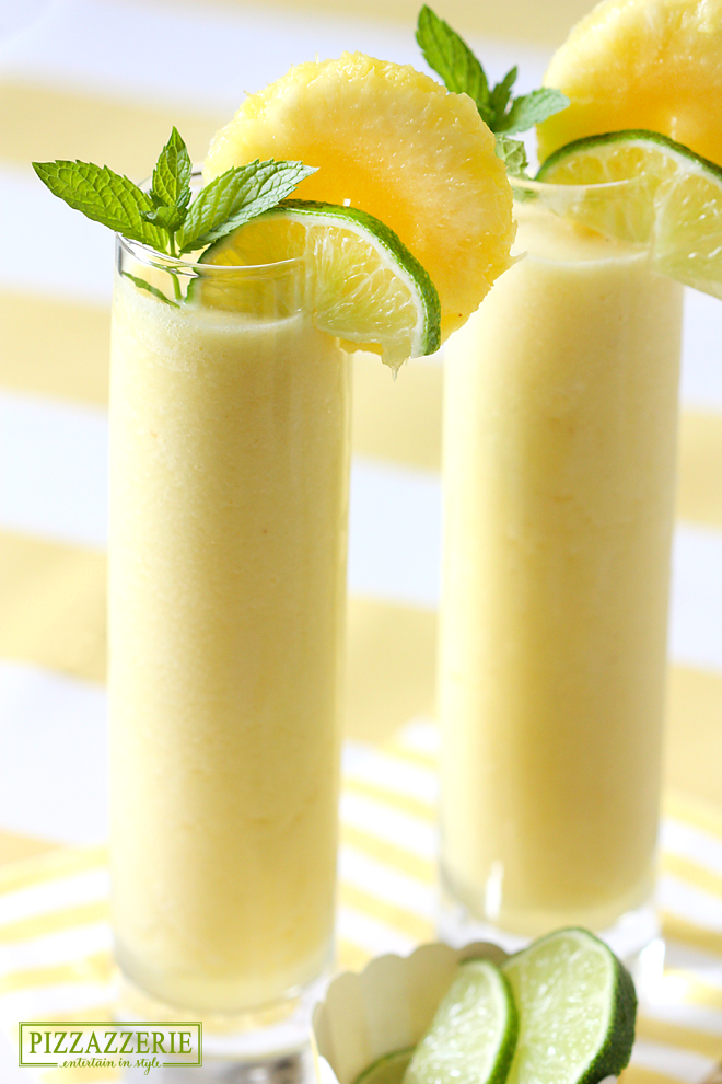 A refreshing pineapple rum drink that's perfect for summer!