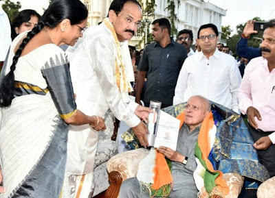 M S Swaminathan presented with 'Muppavarapu Venkaiah Naidu National Award' for his contribution to agriculture