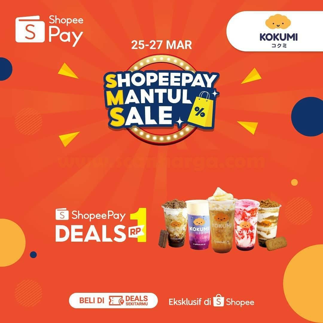 Kokumi Promo ShopeePay Mantul Sale DEALS Rp 1,-