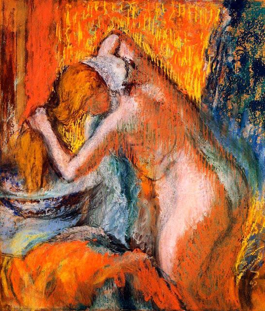 Эдгар Дега - Женщина, вытирающая волосы (ок.1903)