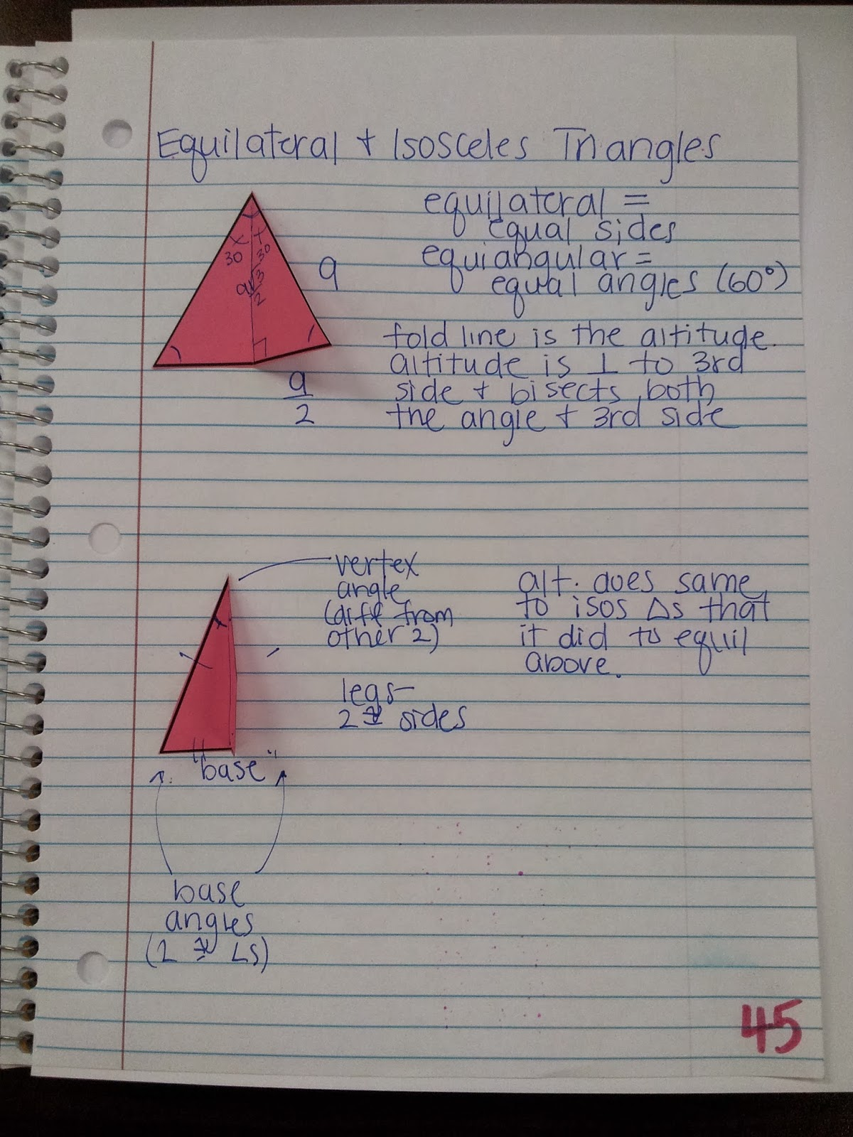 Math By Tori Equilateral And Isosceles Triangles