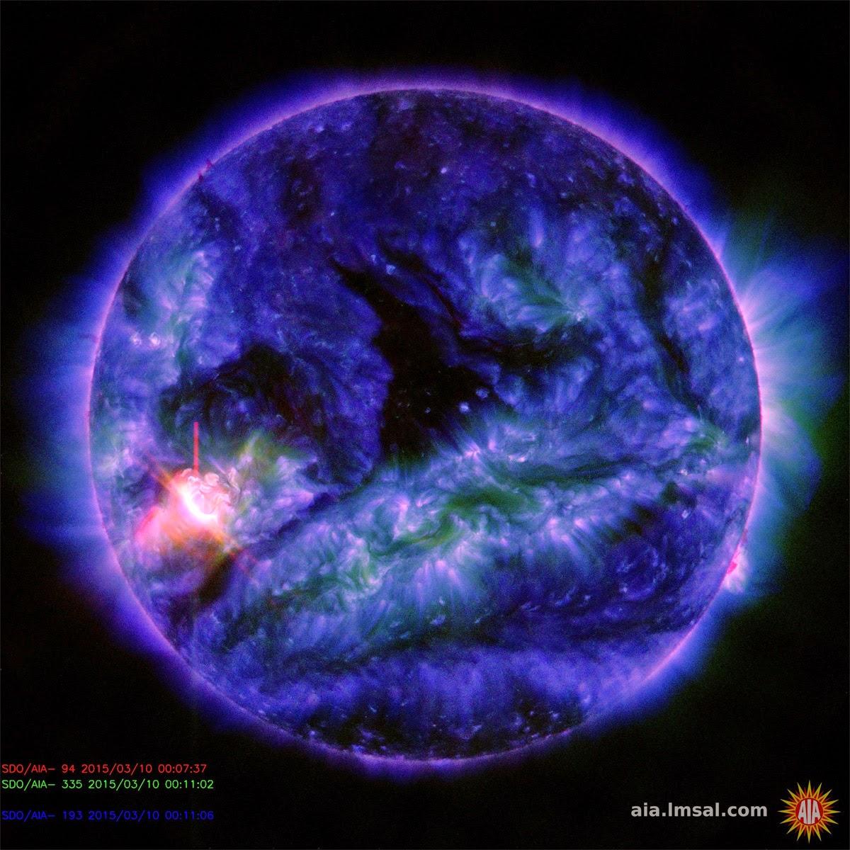 explosão solar mancha AR2297