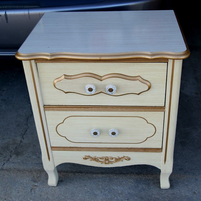 Stenciled End Table - Happy Hour Projects